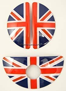 Cache poignée de portière intérieure & boîte à gants - Drapeau anglais - Plastique