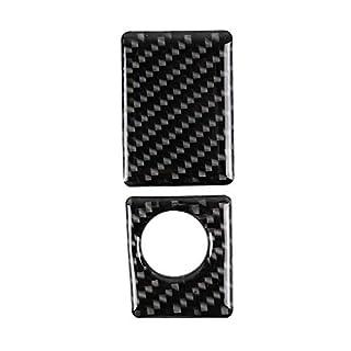 Lindahaot Ersatz für Lexus IS250 NX200 200t 300h 2pcs / Set Aufbewahrungsbehälter-Schalterabdeckung Carbon-Faser-Ordnungs-Aufkleber