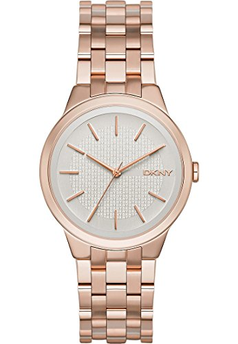 DKNY Damen-Armbanduhr Analog Quarz Edelstahl NY2383