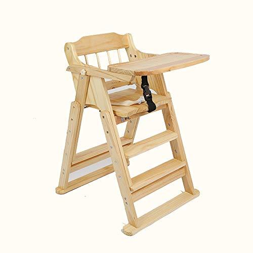 Ein guter Assistent, der sich um Kinder kümmert Naturholz Tragbare Falten Baby Essen Hochstuhl Mit Trolley Räder Fütterung Snack Booster Sitz Zum Sitzen Spielen Esstisch Stühle Mit Tablett 3-Position -
