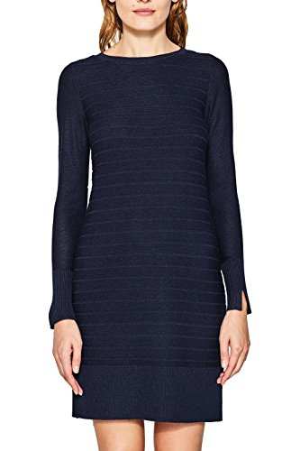 ESPRIT Damen Kleid 087EE1E001, Blau (Navy 400), X-Small