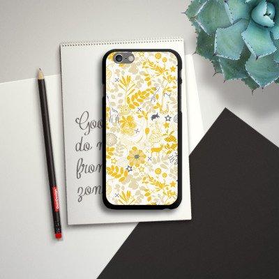 Apple iPhone 6 Housse Étui Silicone Coque Protection Motif Motif Fleurs CasDur noir