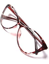 de10333e640de Juleya Lunettes de vue d oeil de chat pour des hommes femmes - Mode Montures