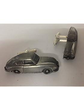 Porsche 356A 3D-Manschettenknöpfe Zinn-Manschettenknöpfe Oldtimer ref183