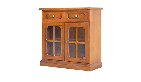 Credenza Classica Per Ingresso : Credenza classica in legno ante vetro mobile midi per cucina