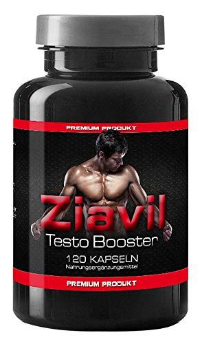 Ziavil Testo Testosteron Booster VargPower | 120 Kapseln | Beliebt bei Männer | Hochdosiert | Matrix Formel Nach Deutschen Standards Hergestellt | Hohe Verfügbarkeit | Original Markenprodukt