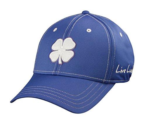 Schwarz Clover Weiß/Royal/Royal Premium Fitted Hat Large/X-Large Blau Logo Flex Hat