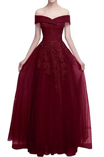 Promgirl House - Robe - Trapèze - Femme rouge bordeaux