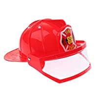 Simulation Role Play Game Toy Gear Fireman Helmet Fire Fighter Hat Kids Cosplay Set Toy - Red