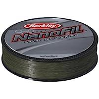 Berkley Nanofil - Hilo de pesca (longitud: 270 m, diámetro: 0,20 mm, resistencia: 12,649 kg), color verde