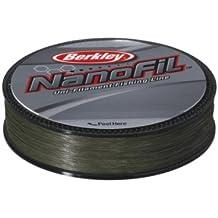 Berkley Nanofil - Hilo de pesca (longitud: 270 m, diámetro: 0,10 mm, resistencia: 5,732 kg), color verde