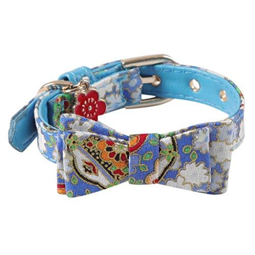VNEIRW Blumen Katzenhalsband mit Fliege, Hundehalsband,… | 00034321090518