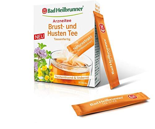 Bad Heilbrunner® Brust- und Husten Tee, 10 Sticks, 1er Pack