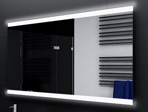 Badspiegel Designo MA2510 mit A++ LED Beleuchtung - (B) 120 cm x (H) 80 cm - Made in Germany - TIEFPREIS Technik 2019 Badezimmerspiegel Wandspiegel Lichtspiegel ob + un beleuchtet Bad Licht Spiegel