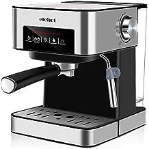 ELEHOT Cafetera Express Cafetera Espresso de Bomba Automática con Boquilla de Espuma de Leche Profesional 15