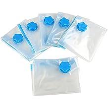 HiCollie 6tlg Set Vakuumbeutel - Aufbewahrungsbeutel Kleiderbeutel 60*80CM,für Kleider, Bettdecken, Bettwäsche, Kissen