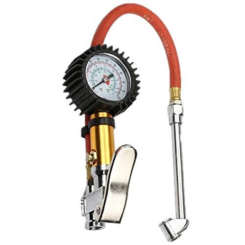 Preisvergleich Produktbild XZANTE Digital Auto Luft Reifen Manometer Inflator Meter Druck Manometer Mit PVC Rohr Schlauch FüR Luft Kompressor FüR Aufladung Auto LKW SUV