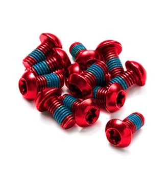 Reverse Disc Rotor Bolt Set disc brake accessories 15 pieces red disc brake accessories