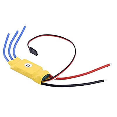 MagiDeal 30A Brushless ESC Motor Speed Controller for RC T-rex V2 450 Helicopter Boat Accessory
