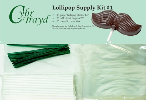 Cybrtrayd 45stk25p 25 11,4 St. Patrick 's Day Lollipop Stick Paket mit 25-green Twist Krawatten und 25-cello Staubbeutel