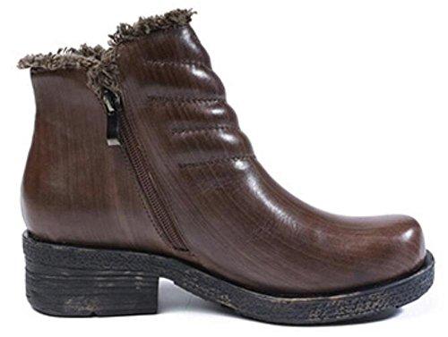 rivetti in pelle stivaletti stivali Martin stivali autunno e inverno delle donne brown