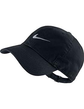 Nike Heritage 86-Swoosh Gorra de Tenis, Hombre, Negro (Black / White), Única