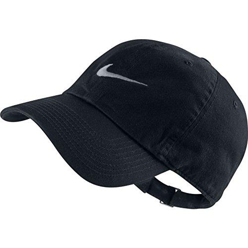 Nike Mütze Männer Winter (Nike Unisex Baseballkappe Swoosh Heritage 86, Black/Wolf Grey)