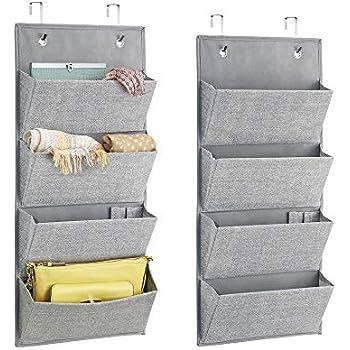 95a04d97cda77 mDesign 2er-Set Hängeorganizer mit je 4 Taschen für die Handtaschen  Aufbewahrung - Taschengarderobe bietet