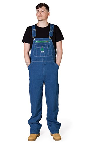 Liberty Latzhose, Regular Fit - Stonewashed Herren Arbeit Jeans-Latzhosen männer LIBSW-D W46 / UK28-L32 -