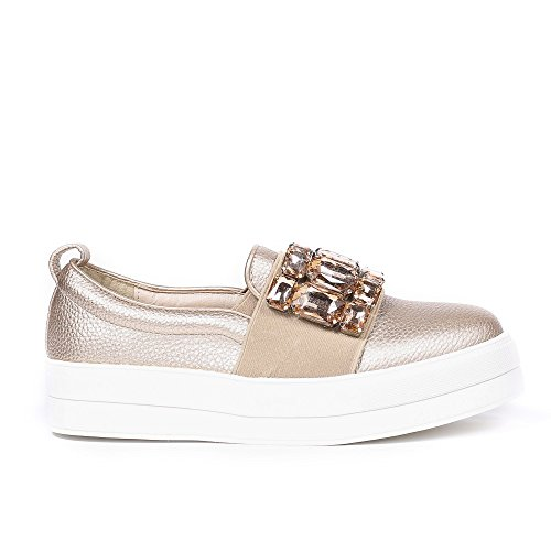 Ideal Shoes ,  Ballerine donna Champagne