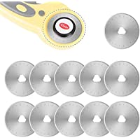 Cuchillas de corte giratorias de 45 mm o 28 mm de repuesto para OLFA, Fiskars Quilting Rotary Blades 10 unidades 45 mm plata