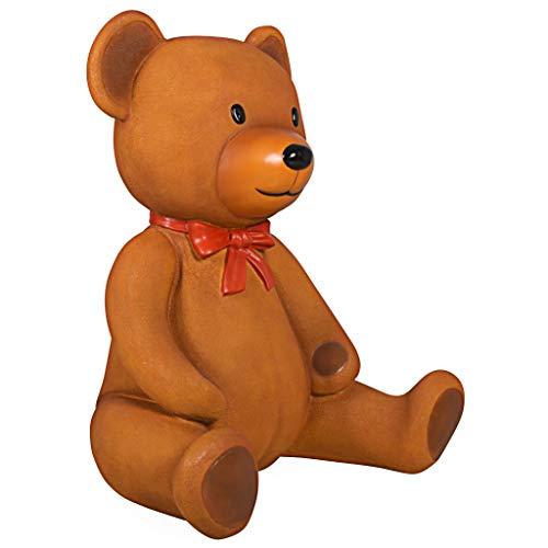 Design Toscano Towering Tremendous Teddy Bear Statue, Fiberglas, Full Color, 36 Inches (Roosevelt, Kinder Teddy)