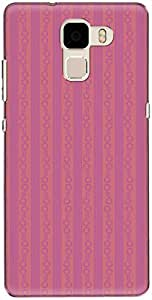 The Racoon Lean printed designer hard back mobile phone case cover for Huawei Honor 7. (Pink Strip)