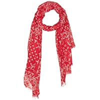 OVS Men's Josephine Scarves, Color: Chinese Red, Size: One Size