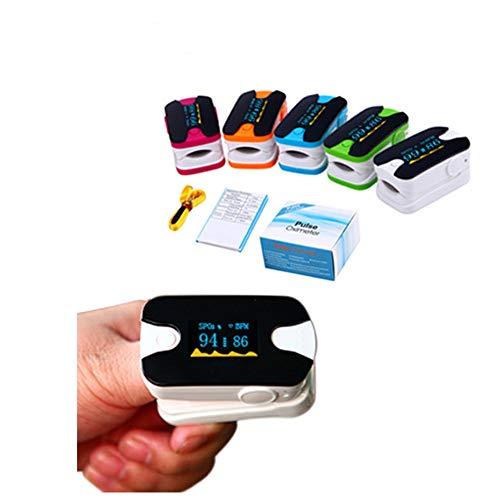 LOY Pulsoximeter der Serie Fingertip zur Überwachung der Blutsauerstoffsättigung mit Lanyard Digital Readings Perfusionsindexrate,Rose