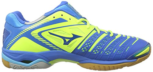Mizuno  Wave Stealth 3, Chaussures de Handball femme Blau (NeoYellow/Blue/BlueAtoll)