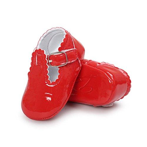 Saingace Baby Prinzessin Soft Sohle Schuhe Kleinkind Turnschuhe Freizeitschuhe Rot