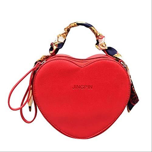 ZQHY UmhängetascheHerzförmige Umhängetasche Frauen Umhängetaschen Mit Schal Pu-Leder Umhängetasche Billige Handtasche7-1 -