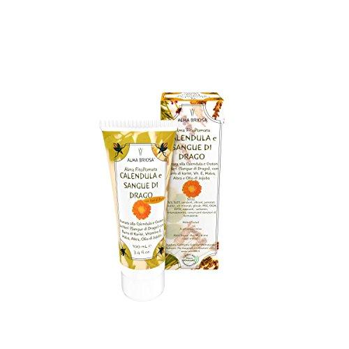 Relief-salbe (ALMA BRIOSA - Phyto-Salbe Ringelblume und Drachenblut - Extrem geschmeidig und beruhigend, für Relief sensible Haut - Angereichert mit Marshmallow und Malve - 100 ml)