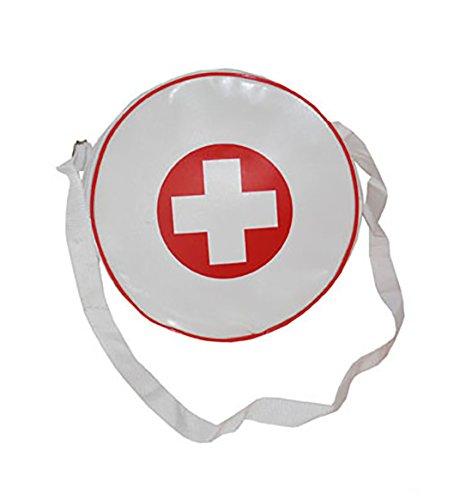 erdbeerclown - Kostüm Handtasche - Krankenschwester Tasche Arzt - 25cm, Weiß