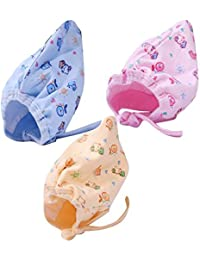 GURU KRIPA Baby Products ® Soft Pure Cotton Caps with Tai Knot and Bonnet Infant Unisex Hat/Topi