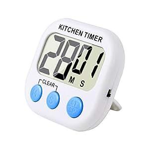 eBoot Magnetico Digitale Timer Da Cucina Con Allarme Forte e Ampio Display LCD (Bianco blu)