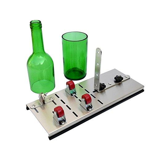 Mopei botella de cristal Cortador, cortador de acero inoxidable para botella de vino para cerveza herramientas de corte máquina de puntuación para DIY cristal/lámparas/jarrones/portavelas