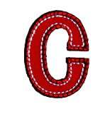 C Rouge Bleu ABC majuscule 9cm pour Fer Bébé Cadeau Pour Nommément Fille de...