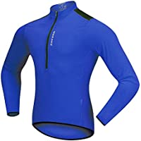 Lixada Wosawe Hombres de Ciclismo Jersey de Primavera de Otoño Half-Zip MTB Bicicleta a Caballo Manga Larga Ropa de la Camisa