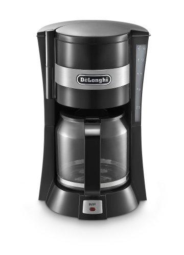 De'Longhi Filter Coffee Machine, 1.25 Liters, Auto shut off and Anti-Drip system, ICM15210.1 – Black