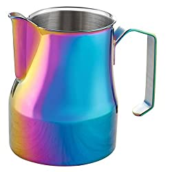 MagiDeal 350ml/550ml/750ml Stainless Milk Frothing Pitcher Coffee Espresso Milk Jug - colorful, 750ml