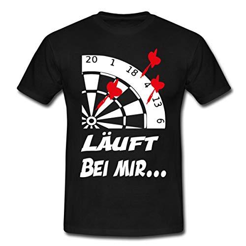 Spreadshirt Darts Läuft Bei Mir Fehlwurf Dartpfeile Männer T-Shirt, L, Schwarz