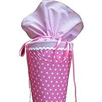 Schultüte aus Stoff rosa Sterne Zuckertüte für Mädchen
