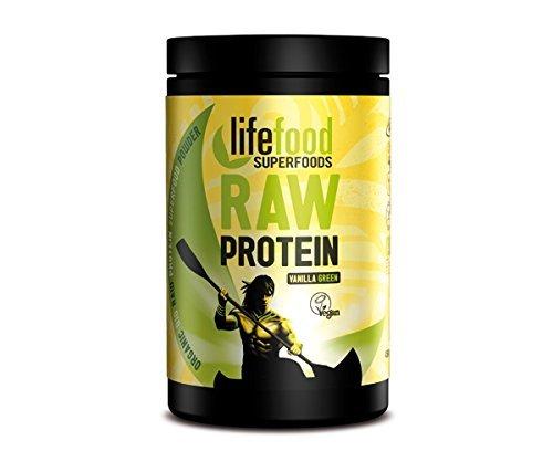 Lifefood Green Vanilla Power Shake (1x 450g) Roher Proteinpulver-Mix (bio, vegan, gluten-/lactosefrei, roh)